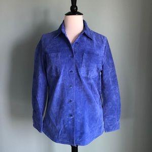 Vivid blue suede jacket by Monterey Bay 16